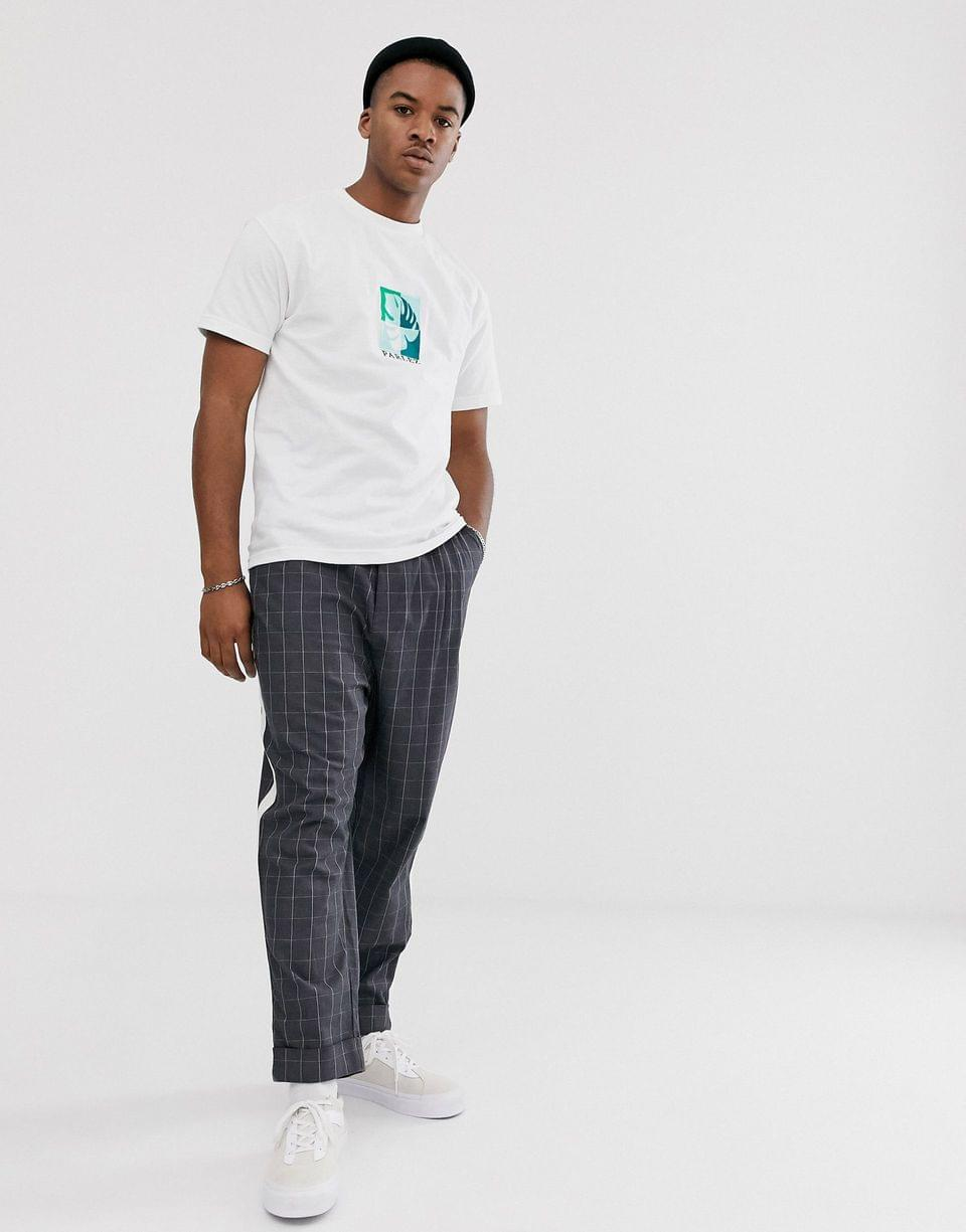 Men's Parlez Oblique embroidered t-shirt in white