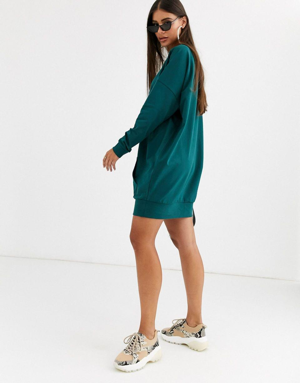 Women's Tall sweat dress with front pocket