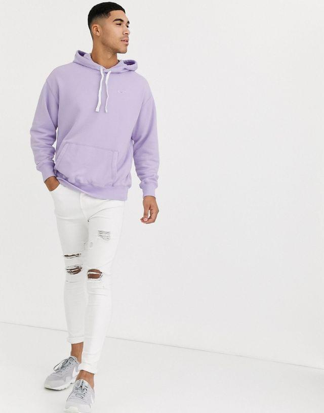 MEN Hollister icon logo hoodie in purple