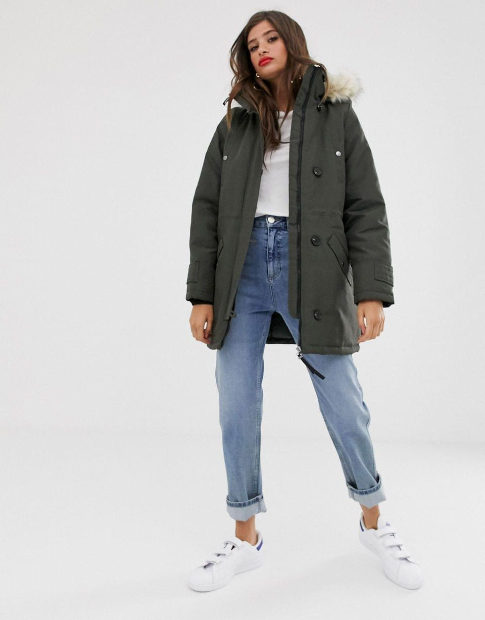 Women's Vero Moda faux fur hooded parka