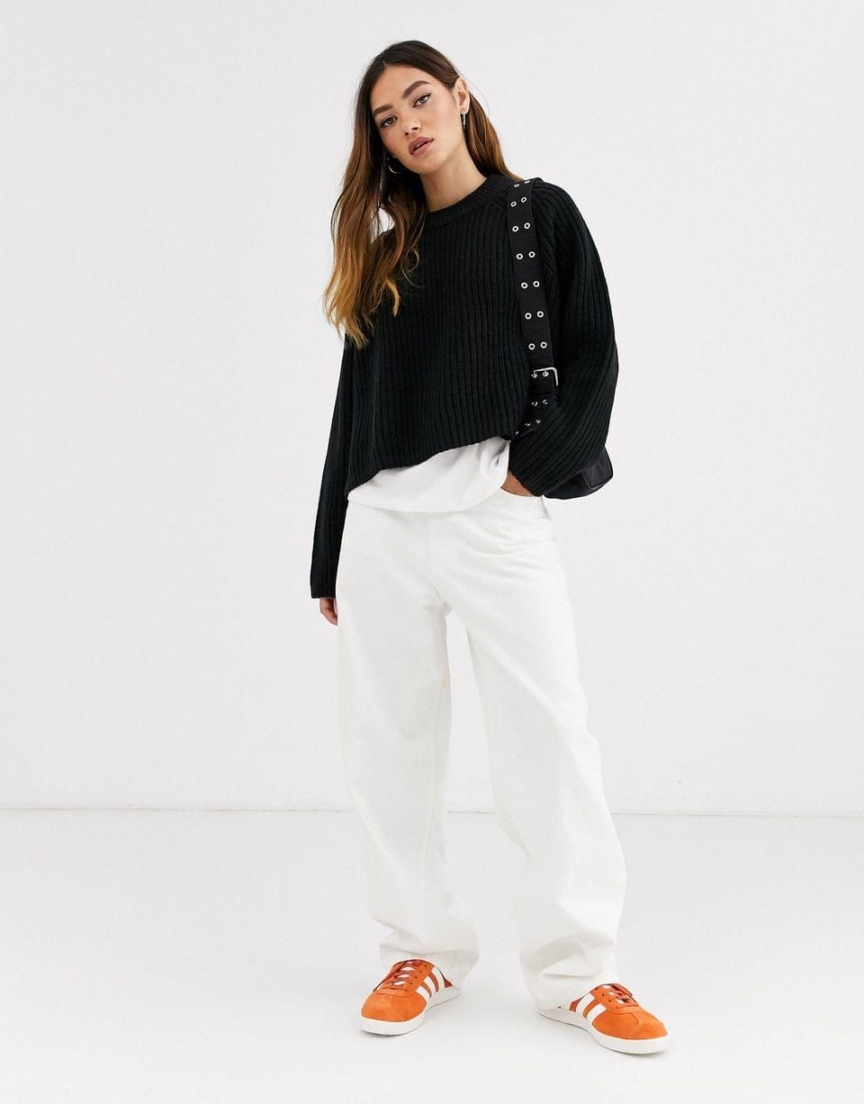 Women's Weekday Cassandra sweater in black