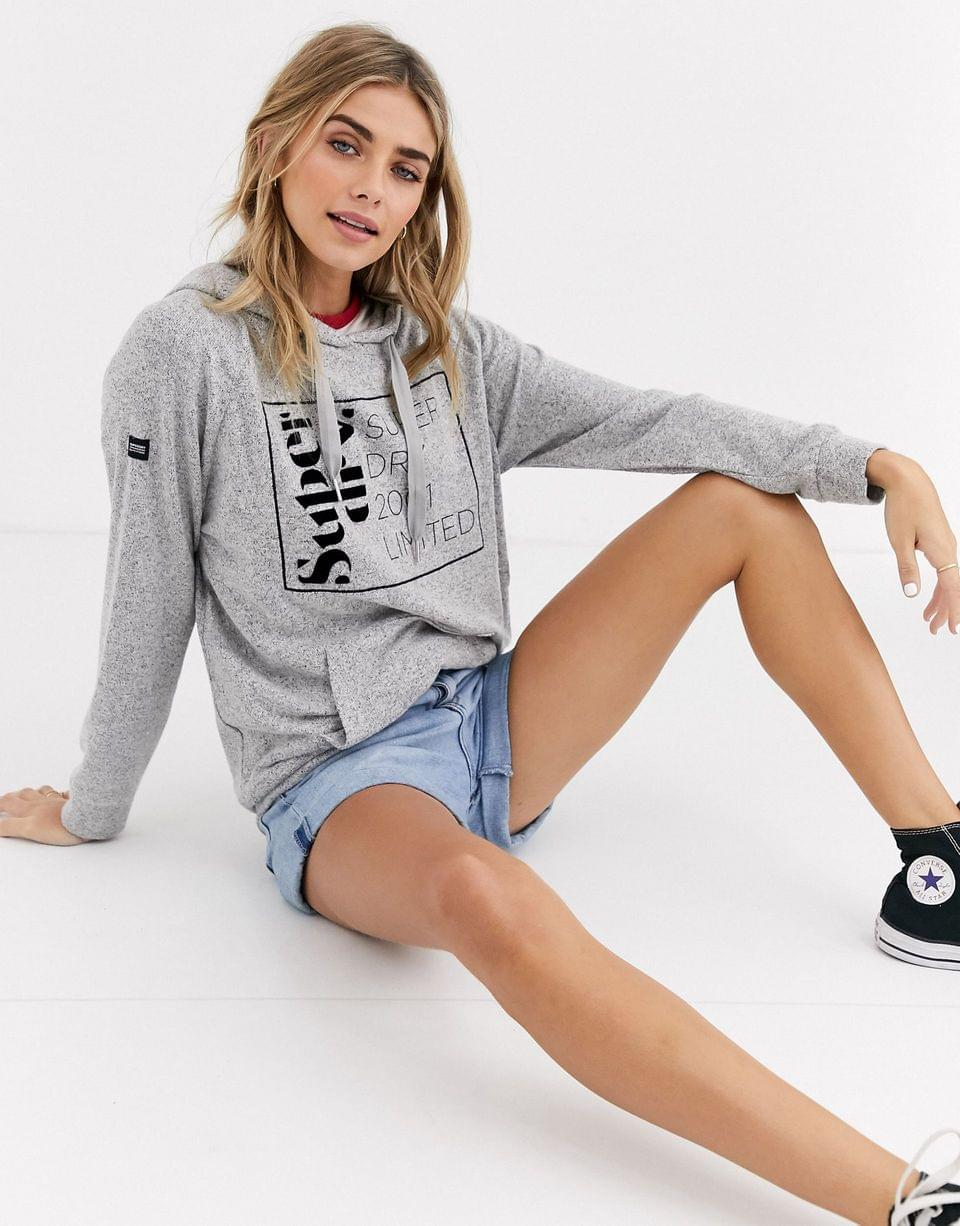 Women's Superdry supersoft oversized graphic hoodie