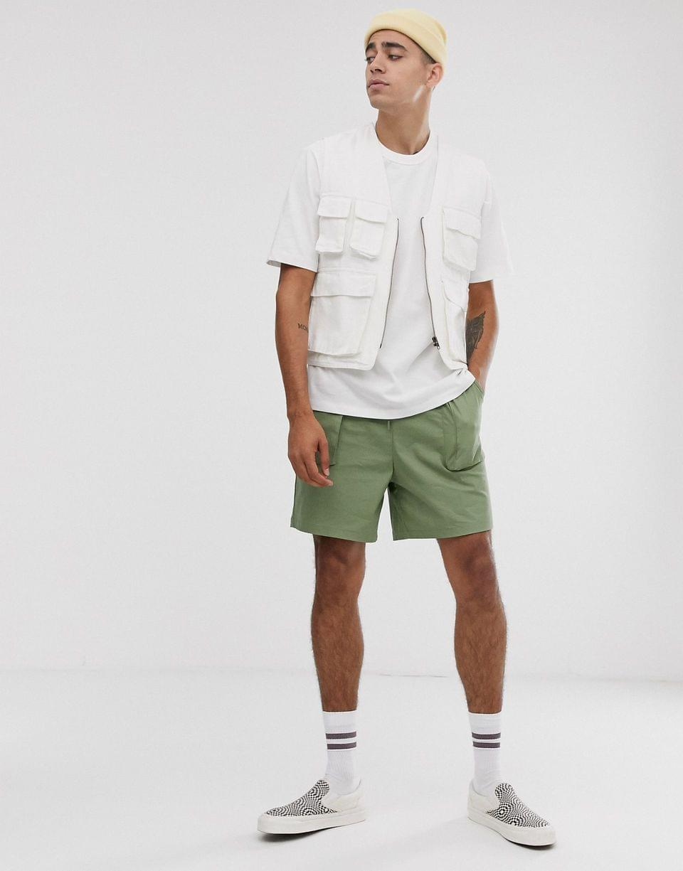Men's WHITE loose fit heavyweight t-shirt in white