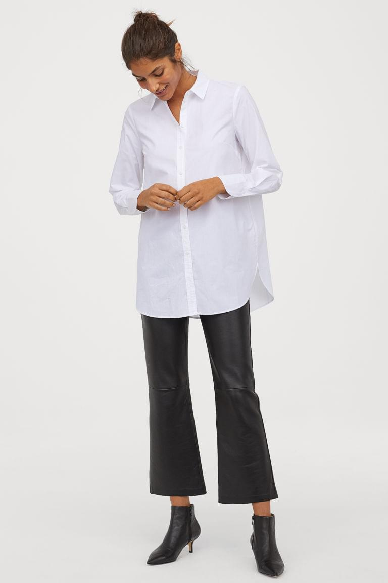 Women's Long Cotton Shirt