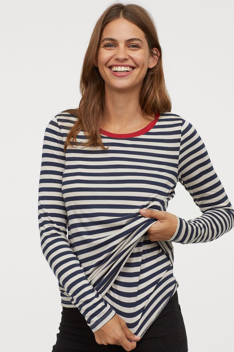 Women's MAMA Long-sleeved Nursing Top