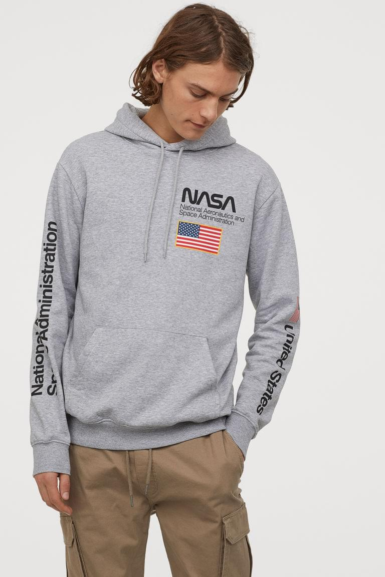 Men's Printed Hooded Sweatshirt