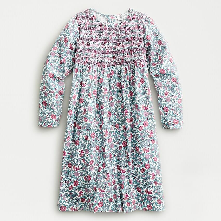 Girl's Girls' smocked floral dress