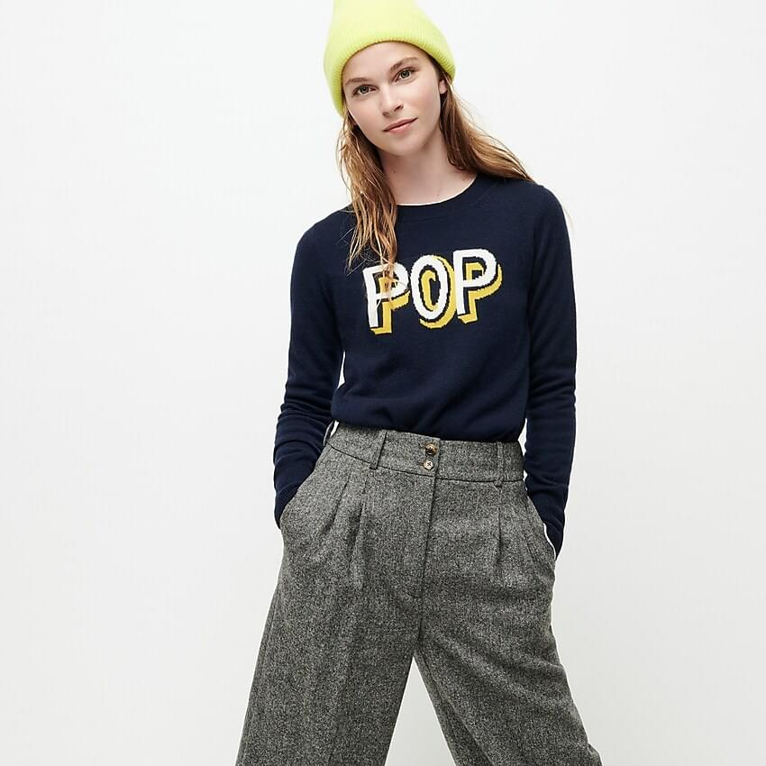 Women's Long-sleeve everyday cashmere crewneck sweater in pop