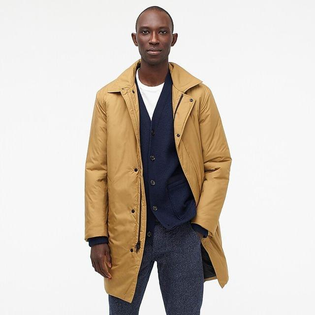 MEN Ludlow insulated trench coat with eco-friendly Primaloft