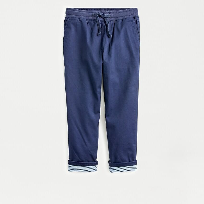 Boy's Boys' lined stretch chino pull-on pant