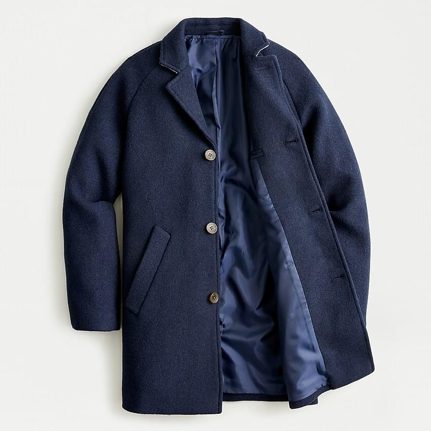 Boy's Boys' topcoat in stadium-cloth wool