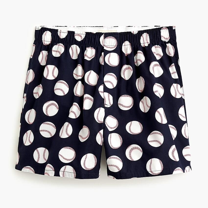 Men's Boxers in baseball print