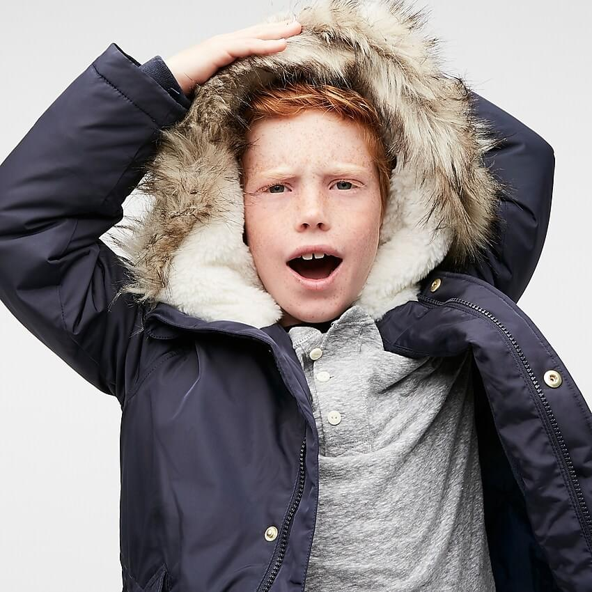 Boy's Boys' fishtail parka with eco-friendly Primaloft