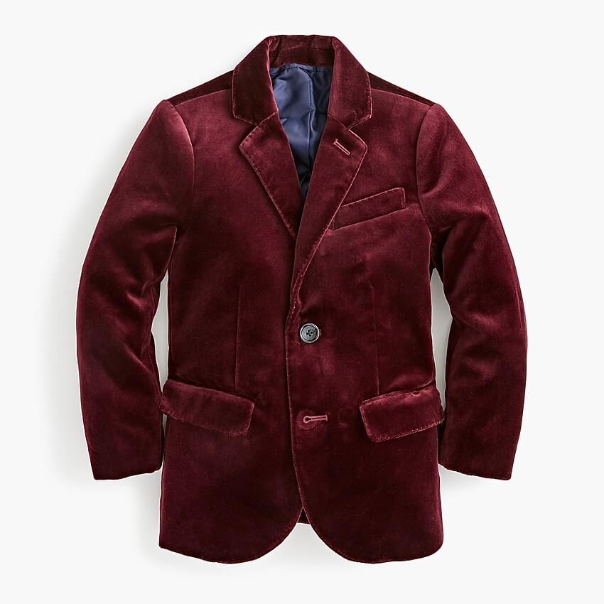Boy's Boys' Ludlow blazer in velvet
