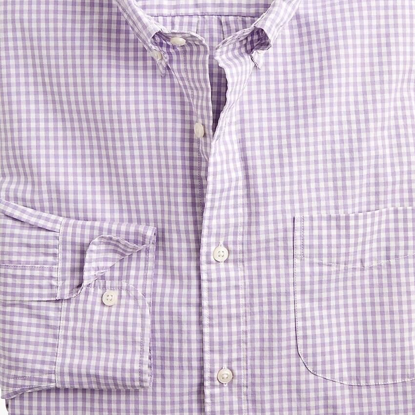 Men's Stretch Secret Wash shirt in basic gingham organic cotton