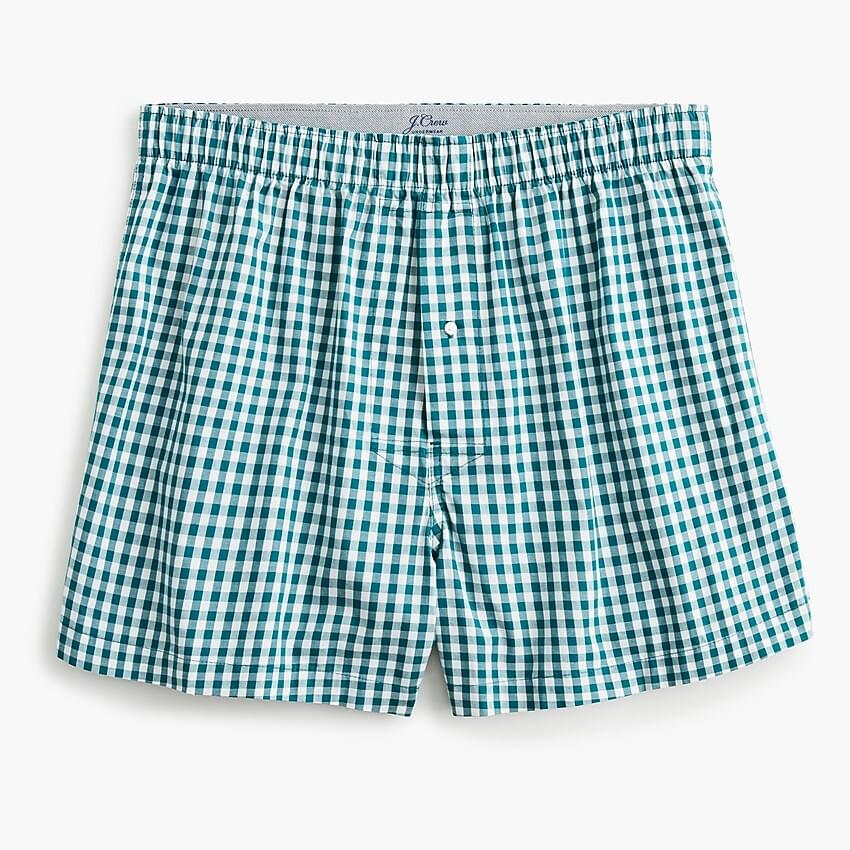 Men's Stretch red gingham boxers