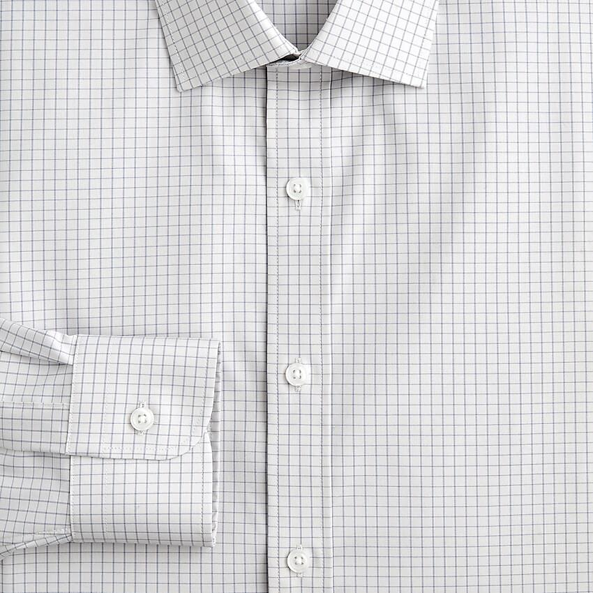 Men's Ludlow easy-care stretch cotton dress shirt in tiny tile