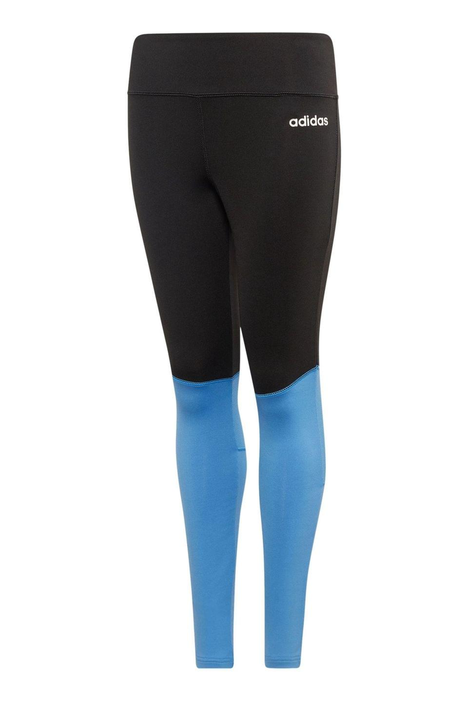 Girl's adidas Black/Blue Leggings
