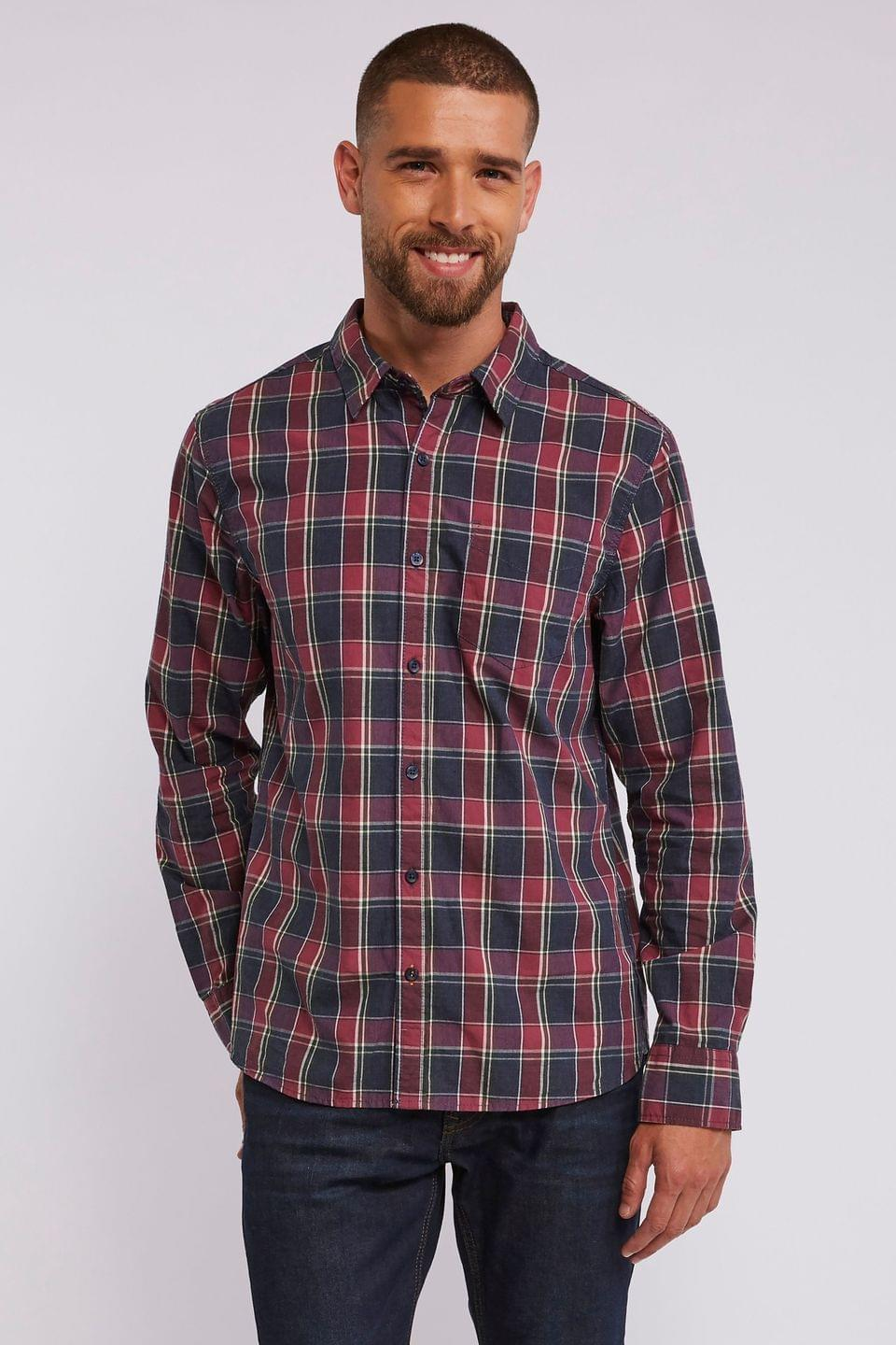 Men's FatFace Pink Chandler Check Shirt