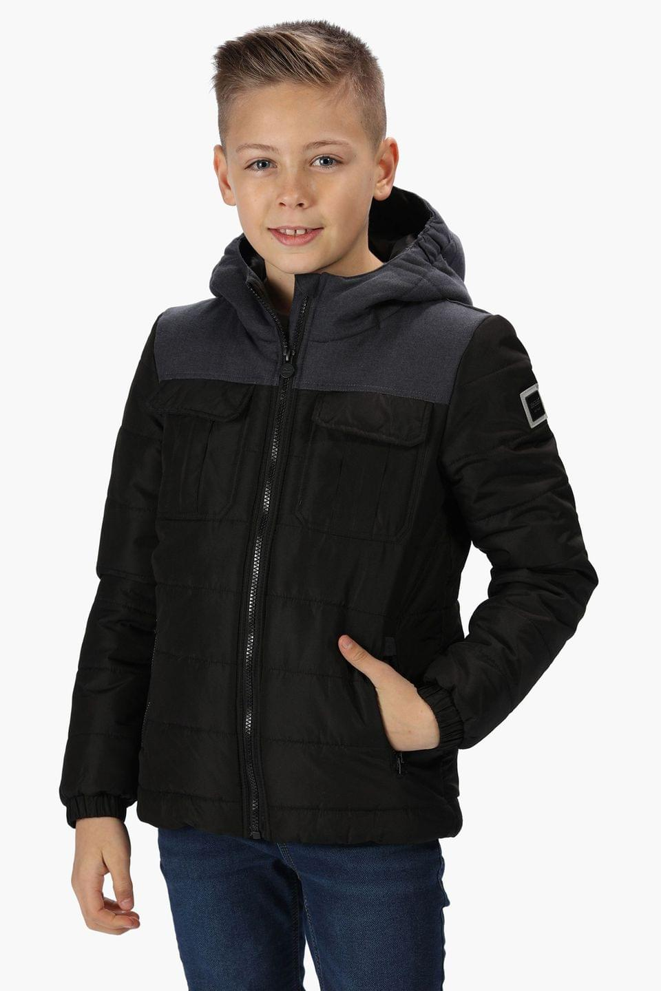 Boy's Regatta Pasco Quilted Water Repellent Insulated Hooded Jacket