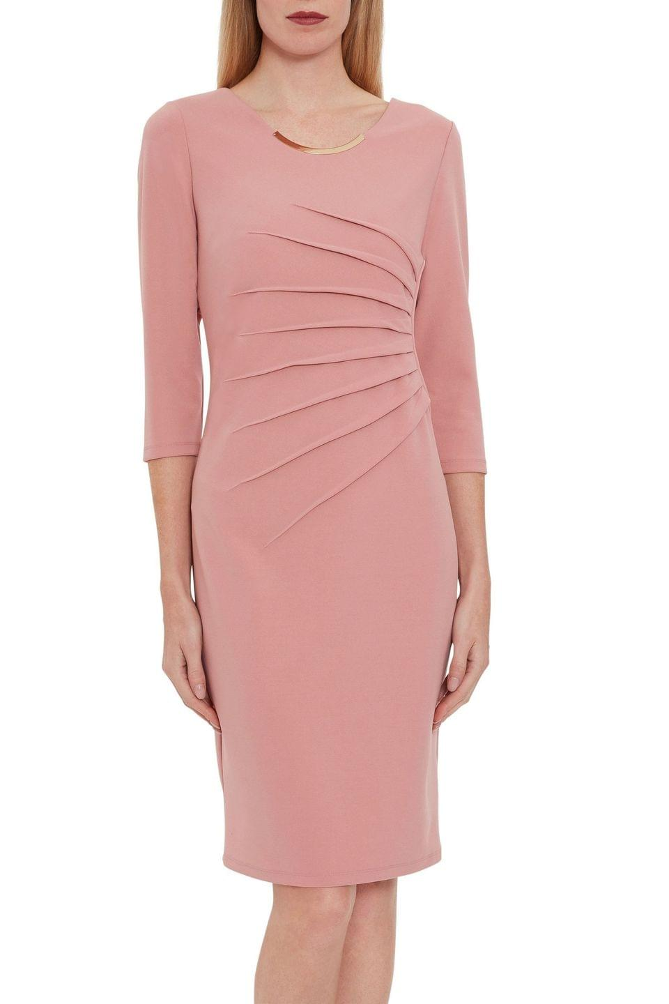 Women's Gina Bacconi Pink Ellis Scuba Crepe Dress