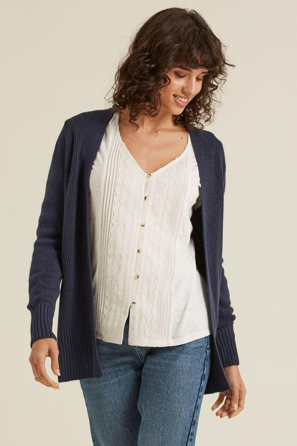 Women's FatFace Blue Haywood Cardigan