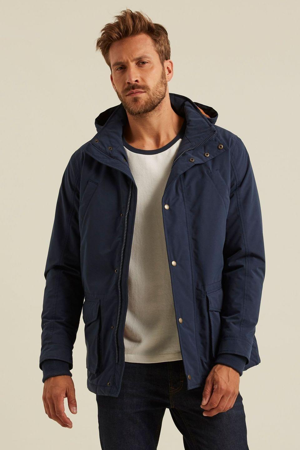 Men's FatFace Blue Performance Parka Jacket