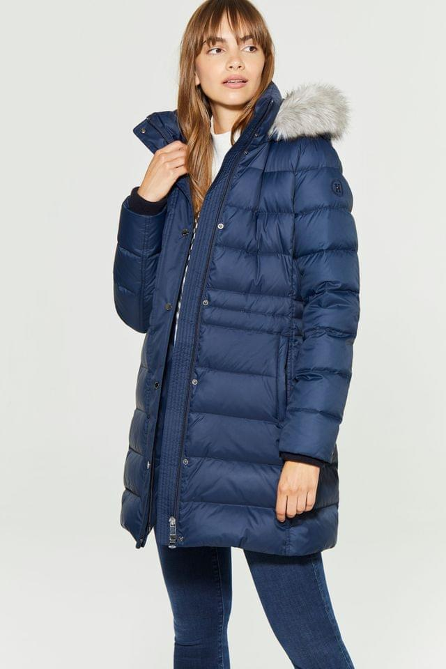 WOMEN Tommy Hilfiger Blue New Tyra Down Coat