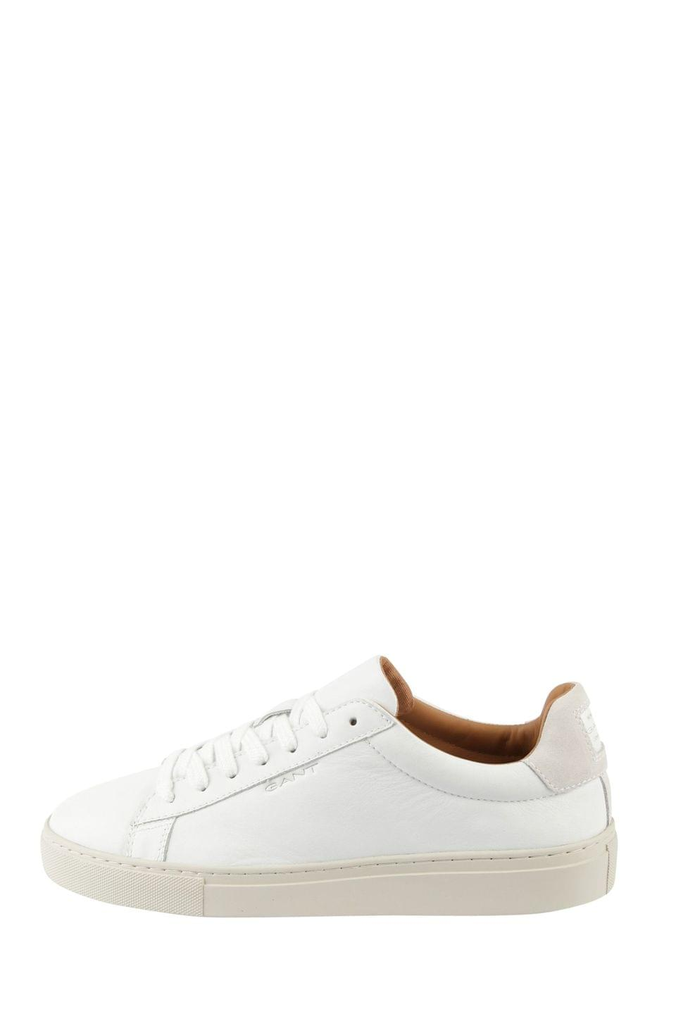 Men's White GANT White Denver Cupsole Low Sneakers
