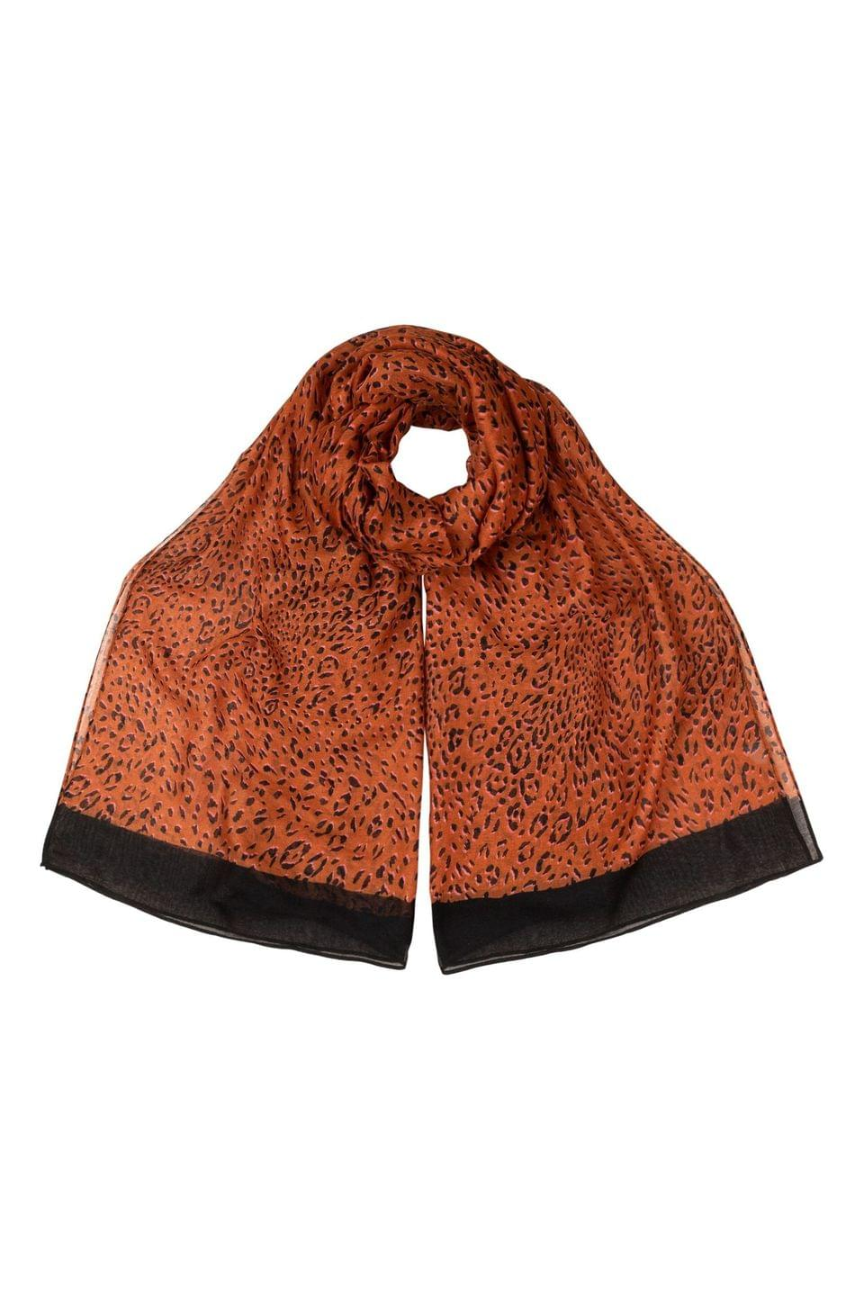 Women's Oliver Bonas Cute Cheetah Brown Lightweight Scarf