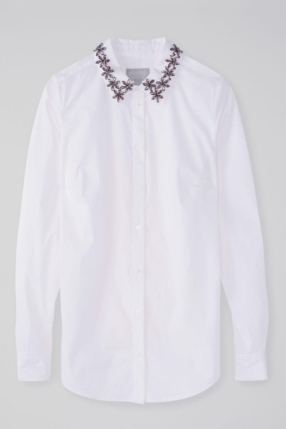 Women's Pure Collection White Cotton Shirt