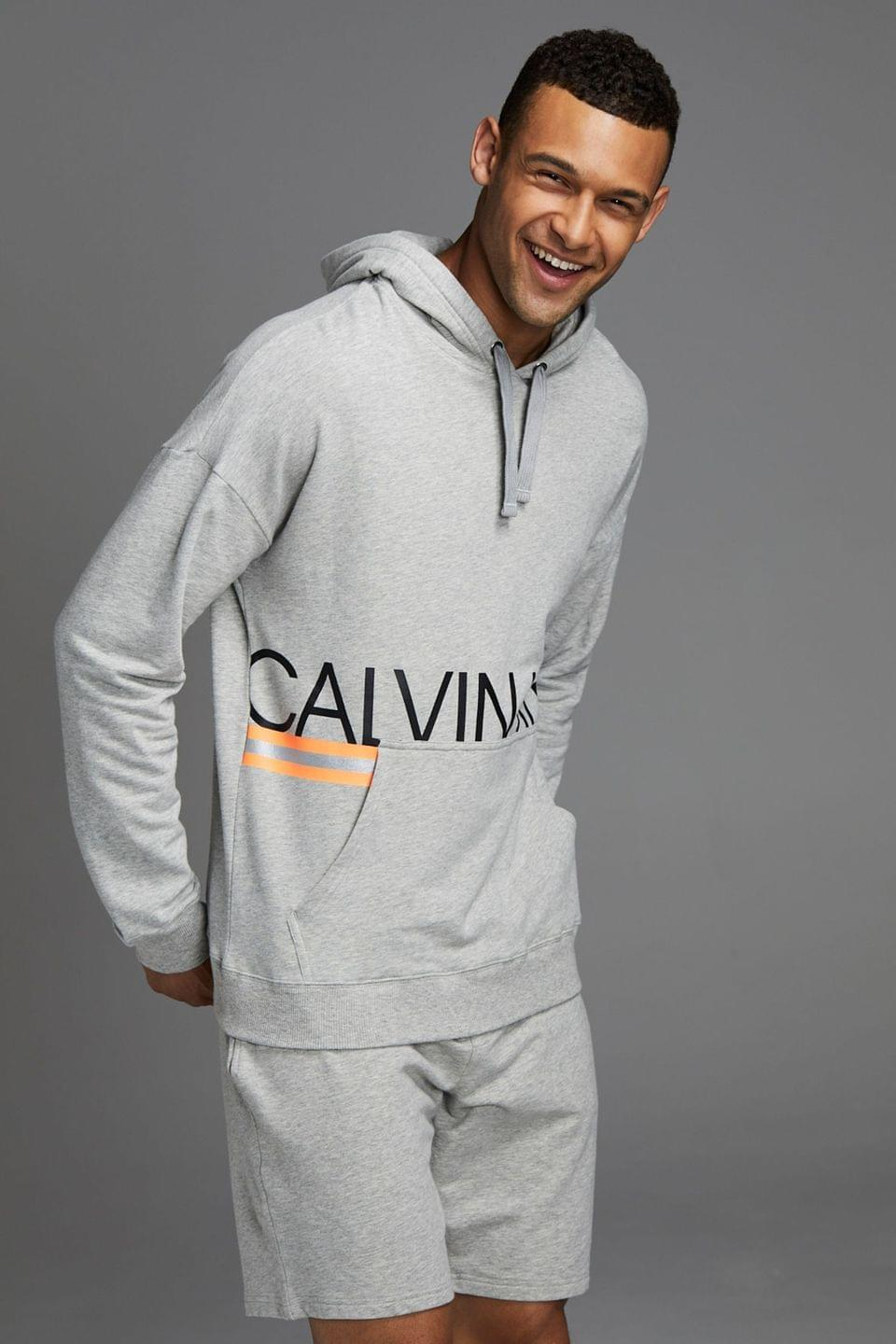 Men's Calvin Klein Grey Hazard Loungewear Hoody