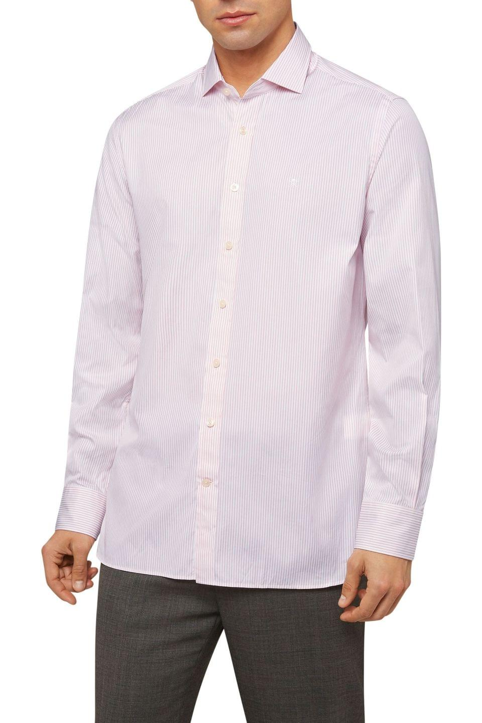 Men's Hackett London Pink Painterly Stripe Shirt