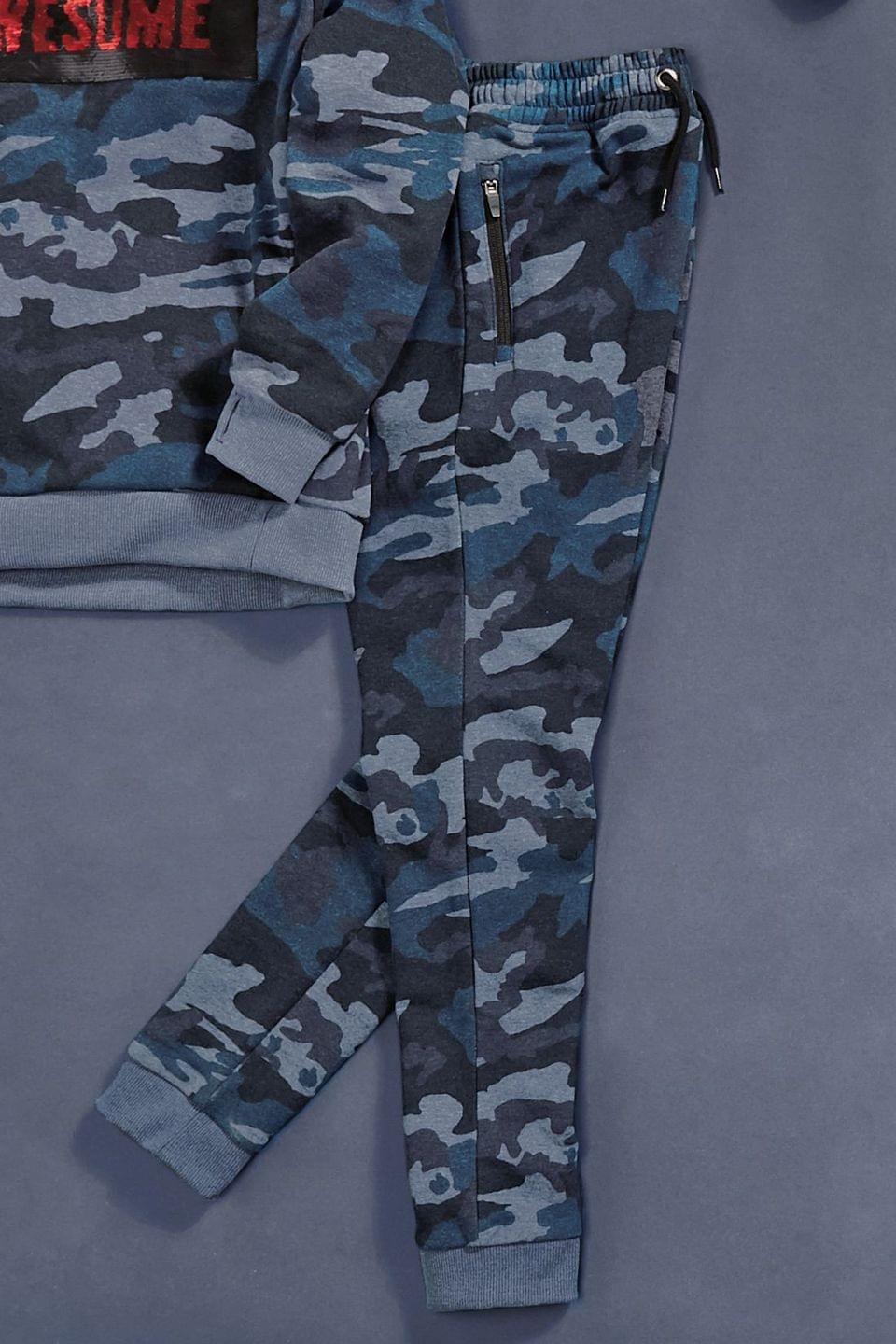 Boy's Blue Camouflage Splat All Over Print Joggers (3-16yrs)