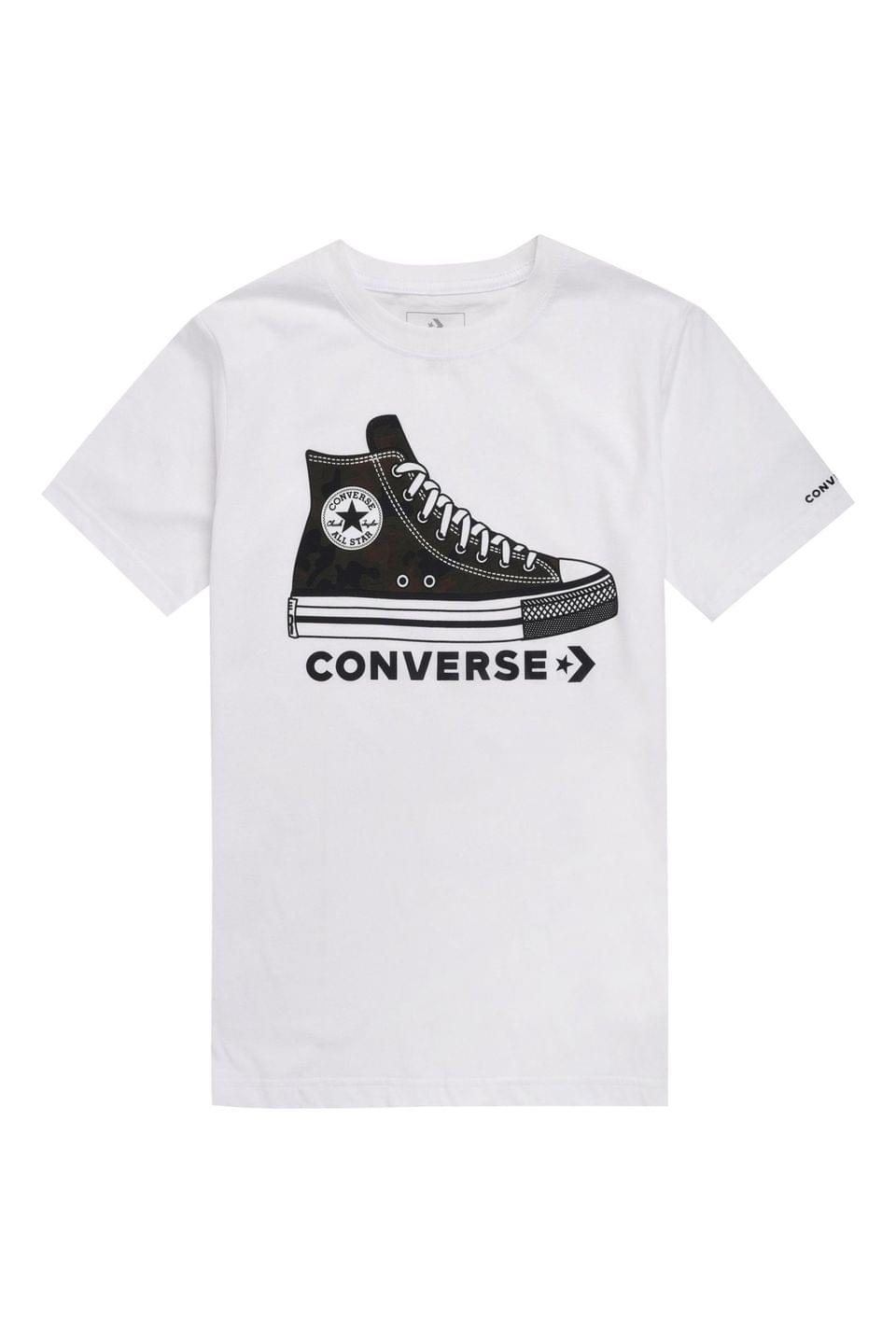 Boy's Converse Boys White Printed Sneaker T-Shirt