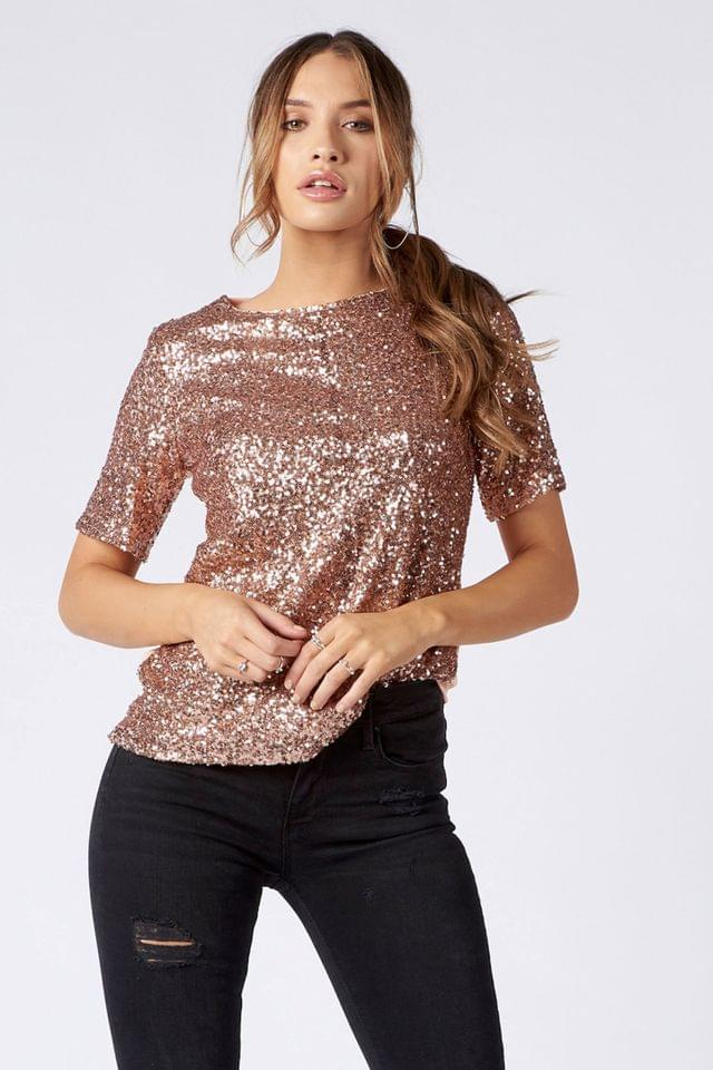 WOMEN Want That Trend Sequin Top