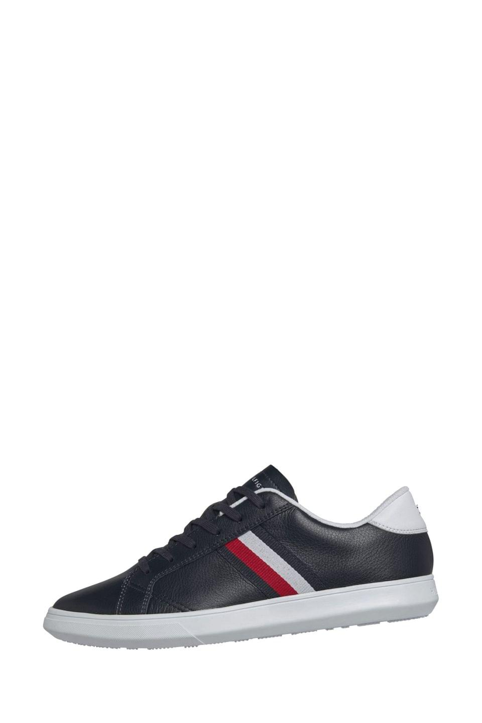 Men's Tommy Hilfiger Blue Essential Leather Global Stripe Trainers