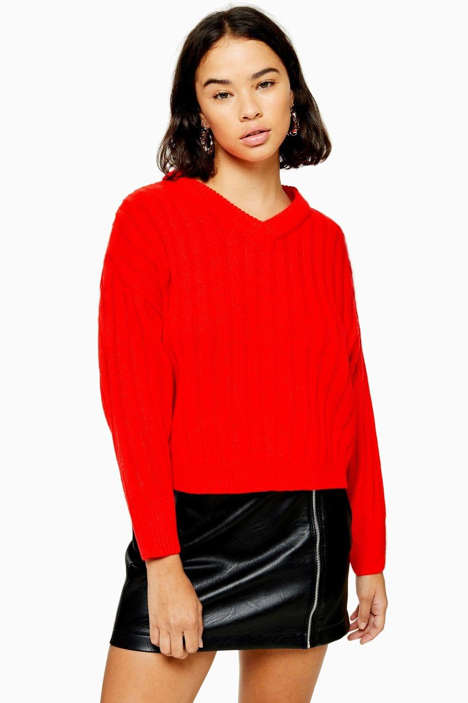 Women's Topshop Petite High Neck Jumper