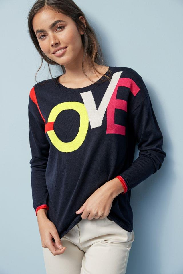 WOMEN Navy Fun Crew Jumper