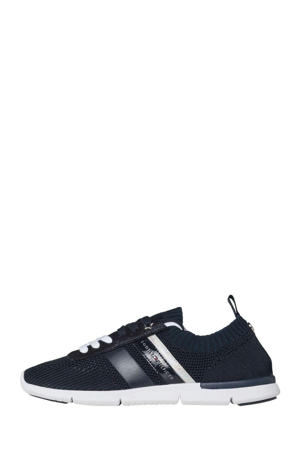 Women's Tommy Hilfiger Blue Knitted Lightweight Trainers