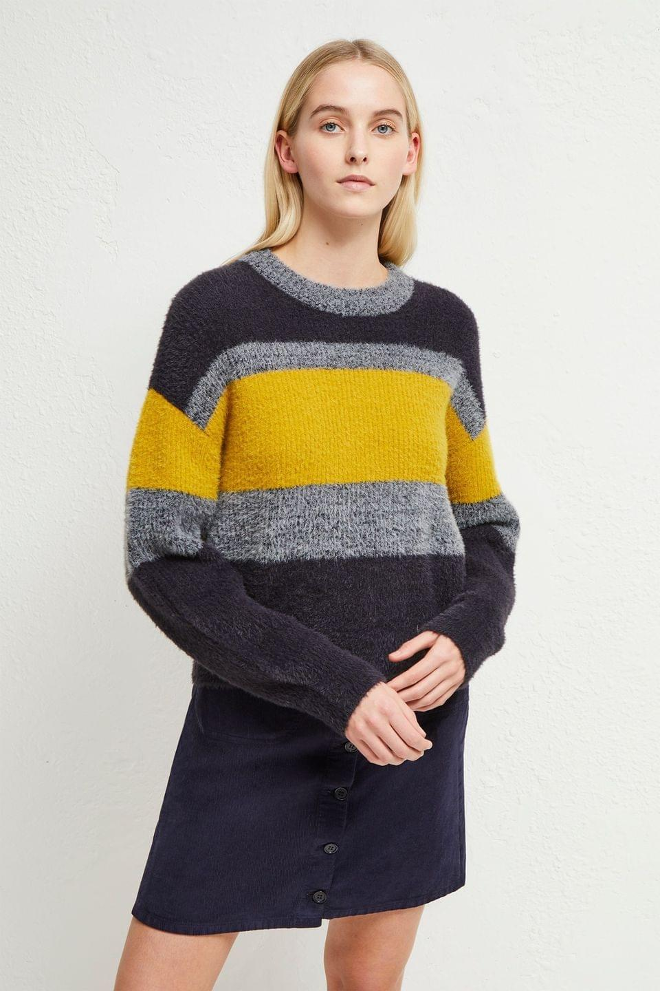 Women's French Connection Blue Rufina Knits Stripe Jumper