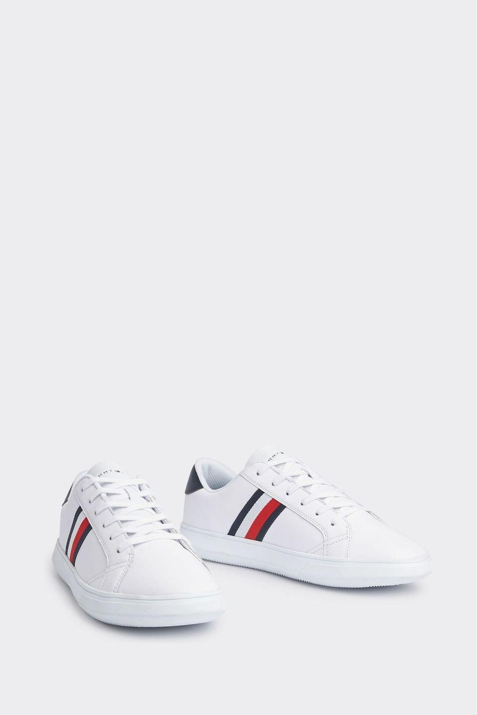 Men's Tommy Hilfiger White Essential Leather Cupsole Trainers
