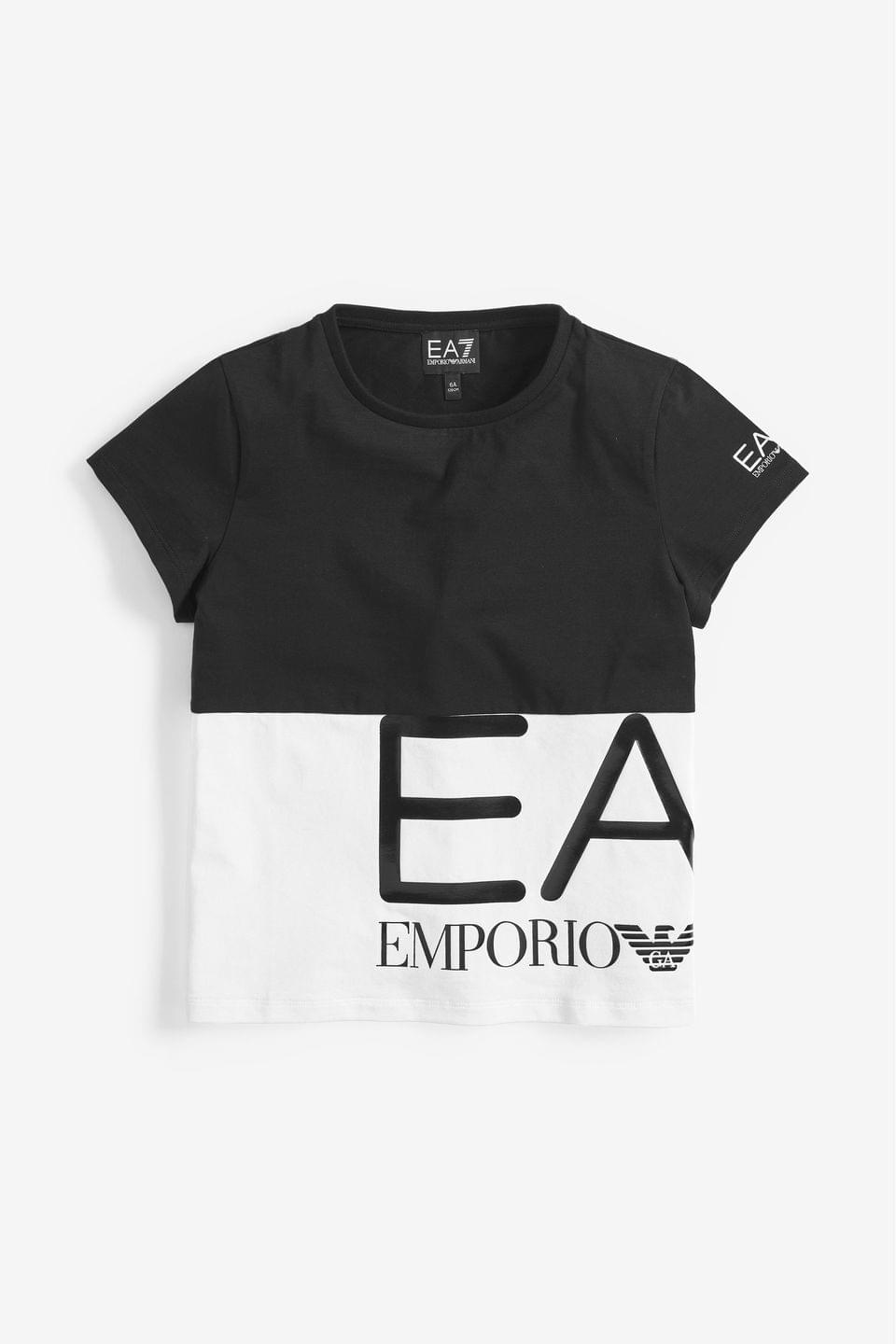 Girl's EA7 Black Block T-Shirt
