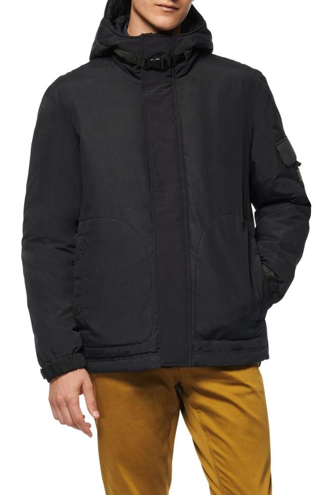 MEN Andrew Marc Greiggs Utility Down Hooded Jacket