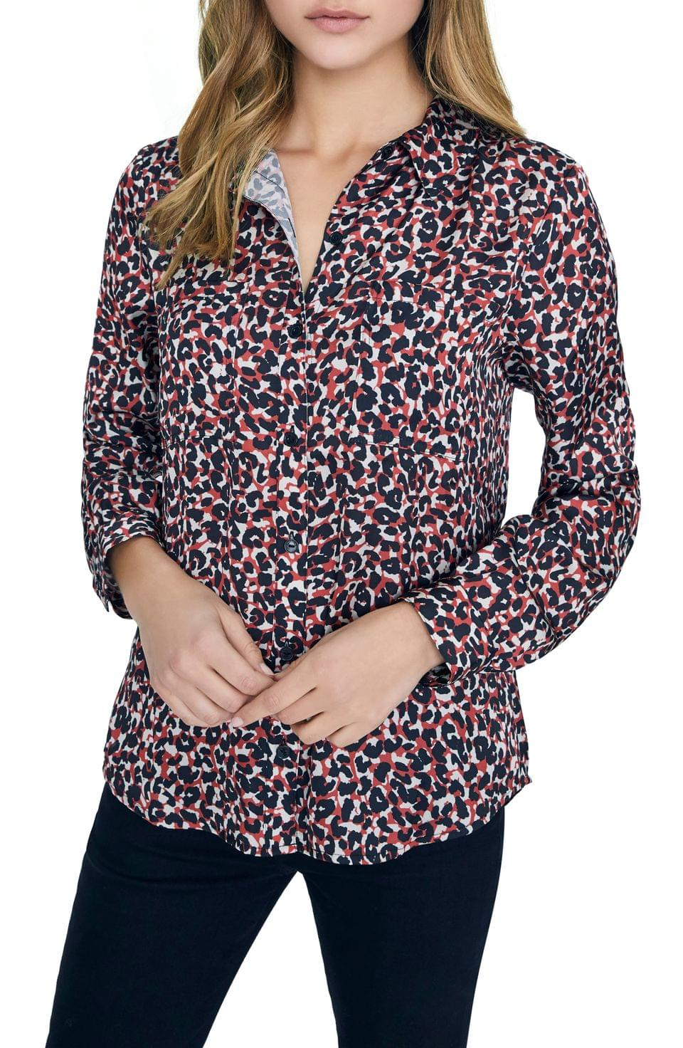 Women's Sanctuary Monday to Sunday Animal Print Button-Up Shirt