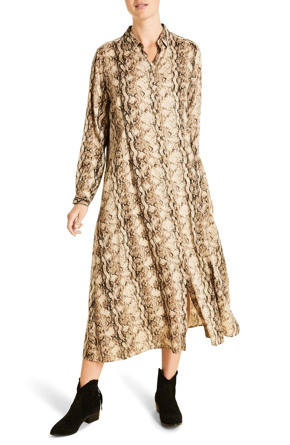 Women's Marina Rinaldi Decalogo Snake Print Long Sleeve Shirtdress (Plus Size)