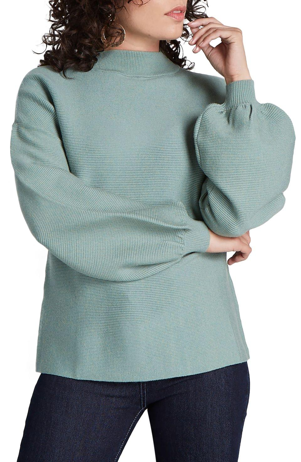 Women's ModCloth Balloon Sleeve Funnel Neck Sweater (Regular & Plus Size)