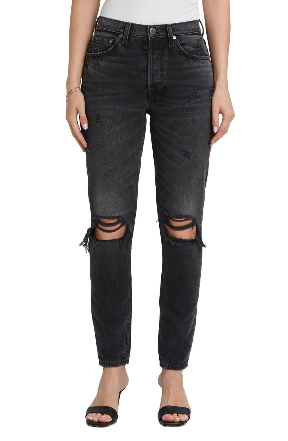 Women's Boyish Jeans The Billy Ripped High Waist Ankle Skinny Jeans (Touch of Evil)