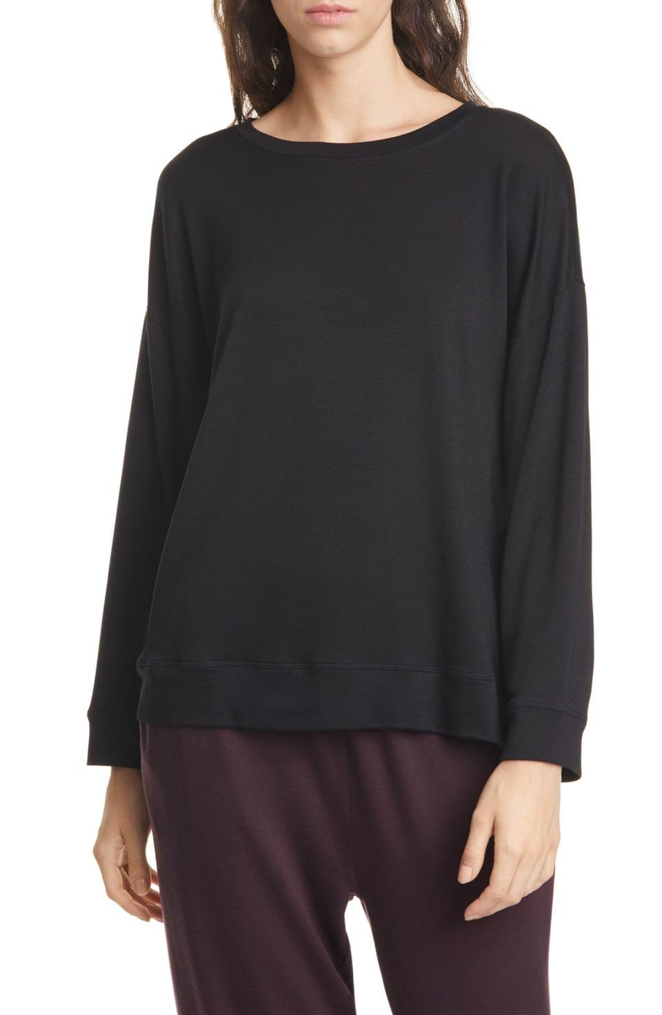 Women's Eileen Fisher Tencel Blend Pullover (Regular & Petite)
