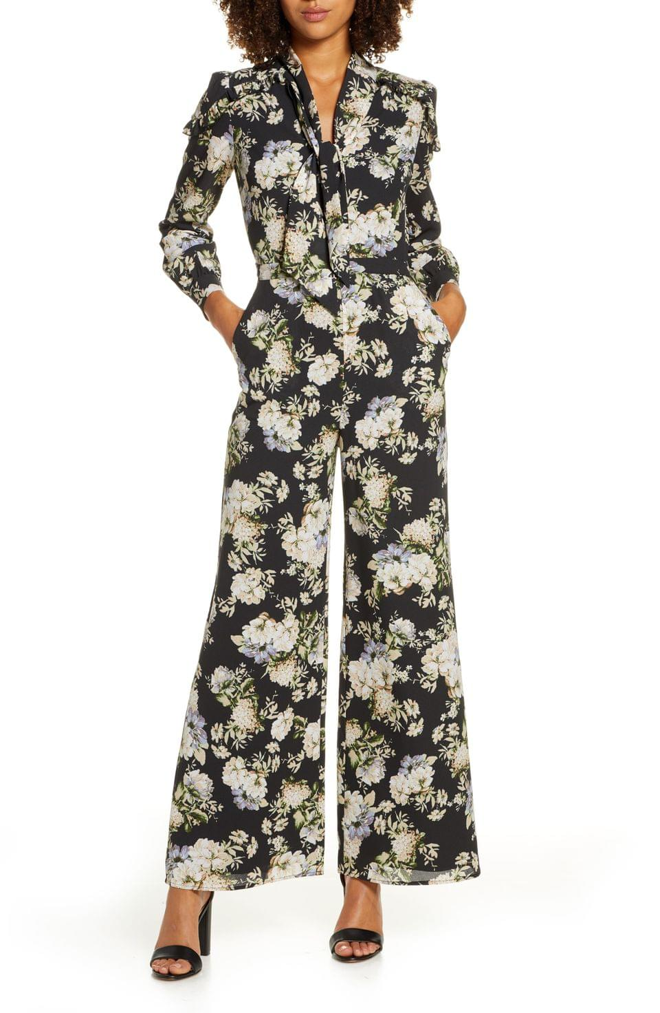 Women's Ali & Jay Stay Magical Floral Print Long Sleeve Jumpsuit